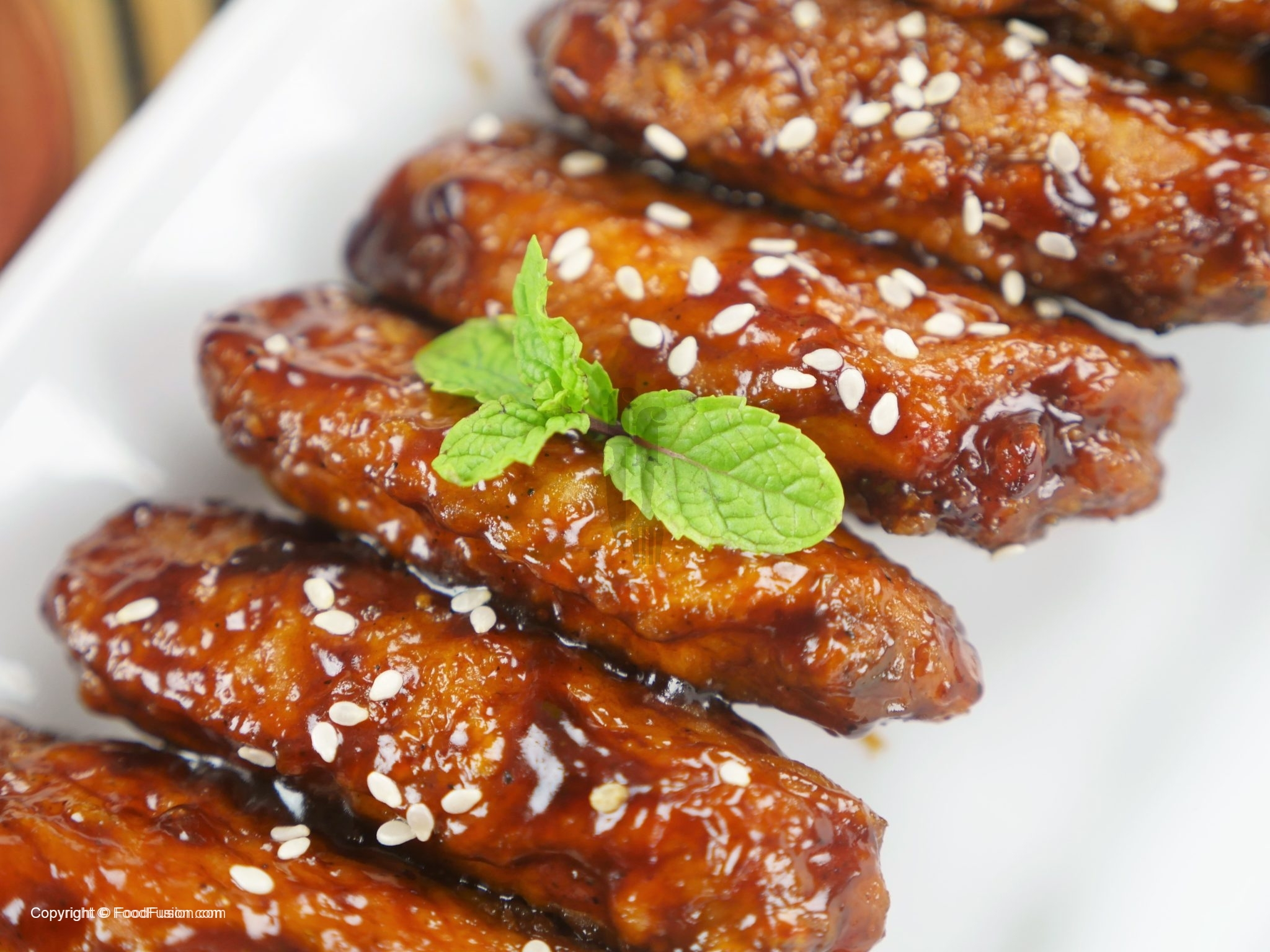 Honey Bbq Chicken Wings Food Fusion