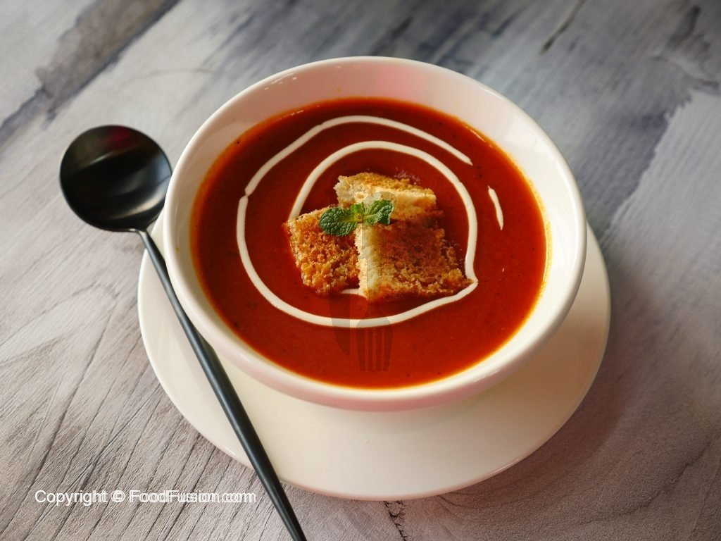 Tomato Soup Recipe By Healthy Food Fusion