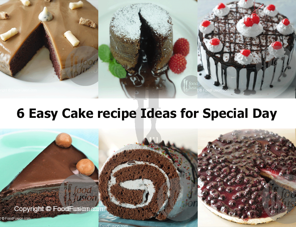 Easy Cake Recipe Ideas For Special Day Food Fusion