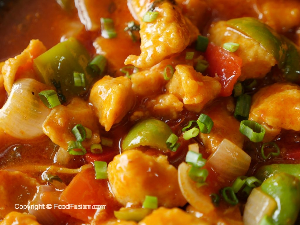 Sizzling Chicken Manchurian Food Fusion