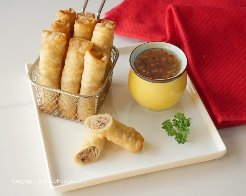 Lumpia With Sweet Chili Sauce Food Fusion